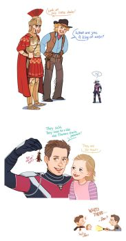 Ant man and Night at the Museum Crossover by Hallpen