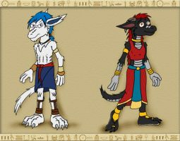 When in Egypt- Gene and Paw by hunterbahamut