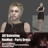 Jill Valentine FanMod Party Dress by Adngel