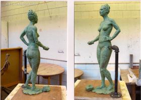 Female figure sculpture by TurnerMohan