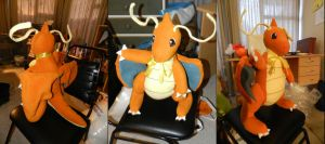 Dragonite Plushie by channellehazel