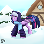 EQD day 3: Snow/Bundled up. Twilight Sparkle by NothingSpecialx9