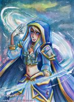 Watercolor Jaina Proudmoore by Lemia