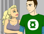 BBT - Sheldon and Penny by Poefish