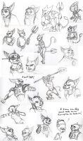 Lombax doodles by Iceway