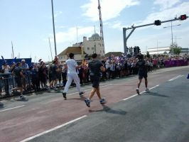 The olympics 2012 torch run by ronyhunterwren