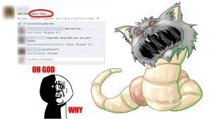 Worm-kitty by dragonfetus