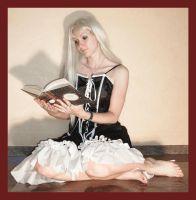Alice reads a book 2 by Lisajen-stock