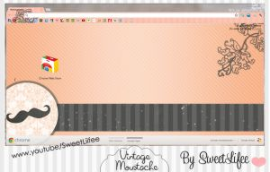 Theme Google Chrome: VintageMoustache' by SweetLiifee
