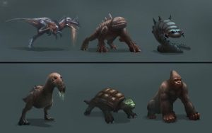 monster designs 1 by Raph04art