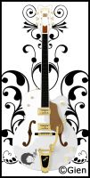 .gretsch white falcon. by dongin