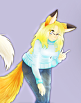 Me in my Cute Fox Form by lupie1324