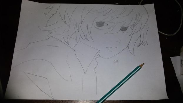 Death Note Near drawing by 286yoha