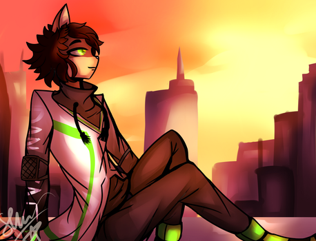 COM: Sunset City: by LonelyNightSheep