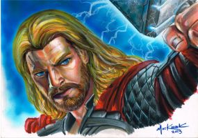Commission: Thor by NickMockoviak