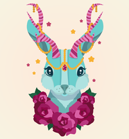 Magical Jackalope by WhippedCreamCake