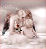 Mother angel friend by vivi-art