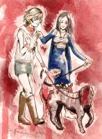 Silent Hill - Heather and Alessa by pax-etlux