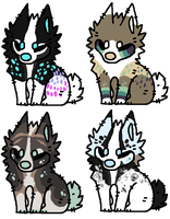 Chibi Canine Batch -CLOSED- by Errored-Adopts