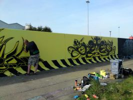 Took a pic of Ekto Painting our 'risk' w by Brave-one