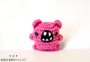 mini pink monster by adorablykawaii