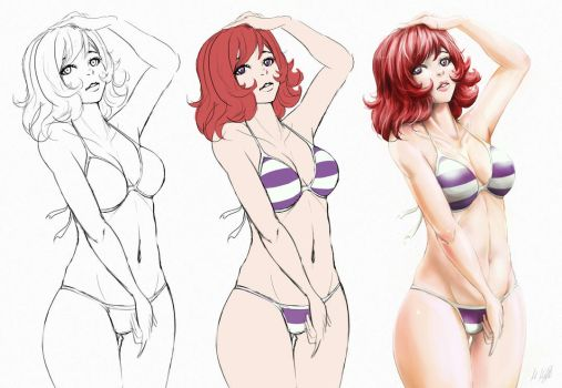 [Practice] Swimsuit by KiteH4cK