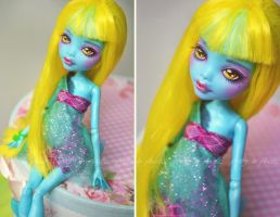Lagoona Blue - 13 Wishes freshwater vers (repaint) by prettyinplastic