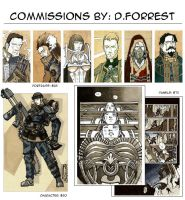 Commissions By d.Forrest by dForrest