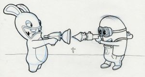 Rabbids vs Minions by vonholdt