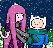 Coldest Night .. (Finn and Bubblegum) by ImaginaryMing