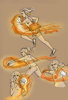Firebender Avery by LilyScribbles