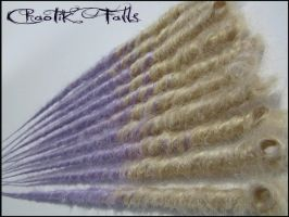 Chaotik Falls Blonde  Lavender Transitional Dreads by ChaotikFalls