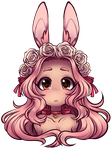 Rose Bunny + Free Lineart by rap1993