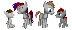 Imperial's Family in 3D Pony Creator by Imp344