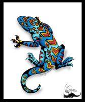 Lizard tattoo concept by Khimera