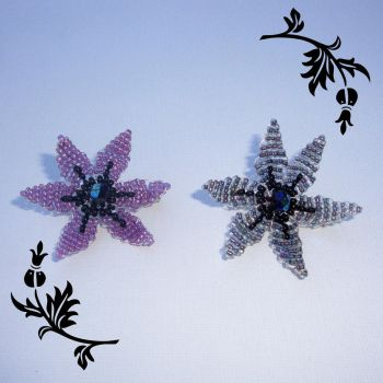 Aurora Borealis Brooches by Milliebead