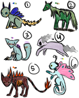 Closed : Creature Adopts by FeralAdopts