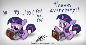 Filly Twilight says thank you by Dori-to