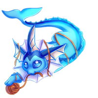 {Commission} - Aqualea the Vaporeon by LeoKatana