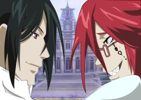 Sebastian and Grell by ewangeli