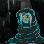 Wraith in a blanket (quick sketch) by MysteriaWraith