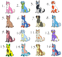 .:Pokedog Adopts 2:.-ALL GONE- by Carmens-Adopts