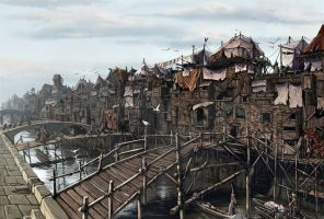 Old Korvosa Slums by BenWootten