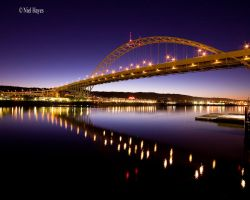 Fremont Bridge Night by niel4