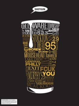 Typographic Beer Directions by Smooth-as-Sandpaper