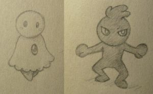 Fakemon Ectopsy and Tenectre by Brendan77