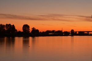 sunset waterscape by Sbojnik
