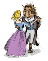 Beauty and the beast by mirelai