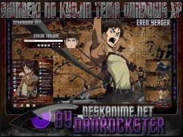 Eren Yeager Theme Windows XP by Danrockster