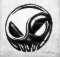 Skull of Ying and Yang by Mark-MrHiDE-Patten